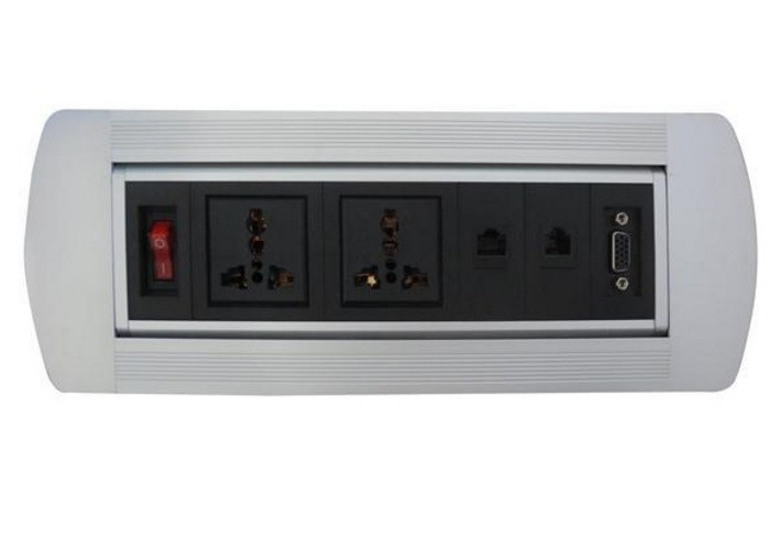 OEM Flip Up Sockets Anti - Dusty Easy To Use CE ROSH Certificate Dual Audio Interface